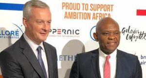 Tony Elumelu with French Minister of Economy and Finance, Bruno Le Maire