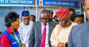 Gov. Sanwo-Olu at the ongoing Lagos International Trade Fair