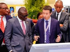 Gov. Sanwo-Olu with some Chinese tech firm