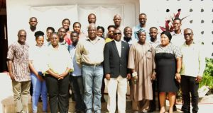A group picture of the participants and officials during the workshop In Koforidua