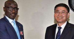 NNPC GMD Mele Kyari and his Chinese counterpart, Sun Quanjun