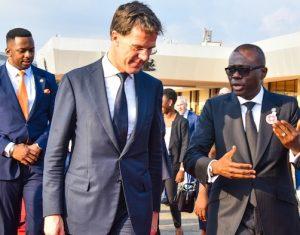 Netherland's Prime Minister, Mark Rutte with Gov. Sanwo-Olu
