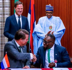 Prime Minister Mark Rutte of Netherlands and President Buhari
