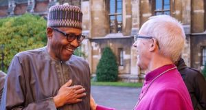 President Buhari with Archbishop of Canterbury, Most Revd Justin Portal Welby