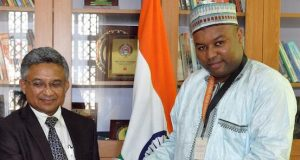 Tiamin Rice Limited, Alhaji Aminu Ahmed with Indian High Commissioner to Nigeria, Abhay Thakur