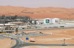View of the production facility at Saudi Aramco's Shaybah oilfield in the Empty Quarter, Saudi Arabia