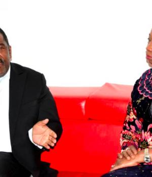 Humphrey Gaiseb with abike Dabiri-Erewa