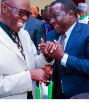 Jerry Useni with Gov. Lalong