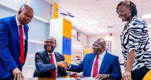 UBA and British Airways officials signing the pact