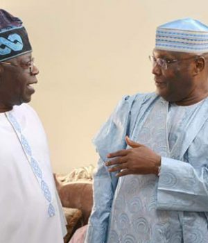 Bola Tinubu and Atiku Abubakar meet at Abuja airport