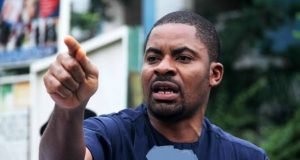 Deji Adeyanju, attacked by thugs
