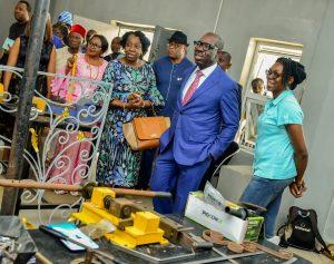 Gov. Obaseki and his team inspecting facility in Benin