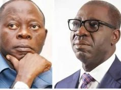 Adams Oshiomhole and Gov. Godwin Obaseki