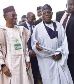 Obasanjo and el-Rufai in Kaduna