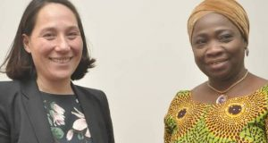 NIDCOM boss, Abike Dabiri-Erewa with Netherlands Institute of International Relations, Monika Sie Dhian Ho