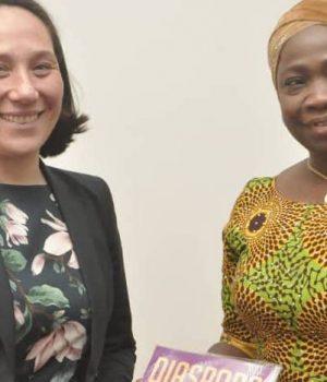 NIDCOM boss, Abike Dabiri-Erewa with Netherlands Institute of International Relations, Monika Sie Dhian Ho