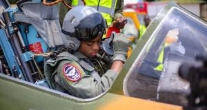 Airforce female fighter Pilot
