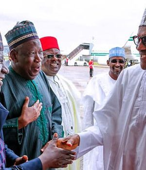 Buhari with Governors Ganduje and Lalong