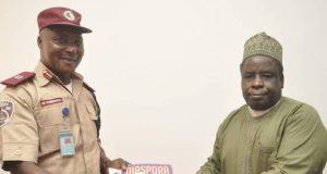 Engr. Dr Yakubu Sule Bassi with Assistant Corps Commandant (ACC) Owoechukwu Chukwuna, of FRSC
