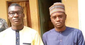Messrs Alfred Olufemi (21years) and Gidado Yushau of Newsdigest