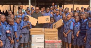 Peter Obi at St Mary Prestigious College, Awka