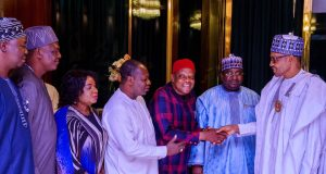 President Buhari with NUT leadership