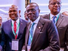 Gov. Sanwo-Olu on the sidelines of the UK/Africa investment summit