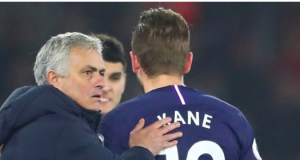 Jose Mourinho and Harry Kane