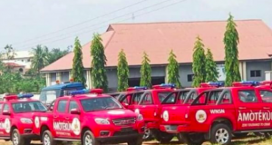 Vehicles donated for the Operation Amotekun