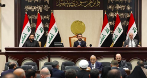 Members of the Iraqi parliament are seen at the parliament in Baghdad,