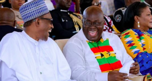 Presidents Muhammadu Buhari of Nigeria and Nana Akuffo-Addo of Ghana