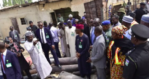Gov. Nasir El-Rufai during a visit to the gas explosion site
