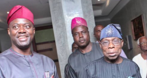 Gov. Seyi Makinde with Olusegun Obasanjo