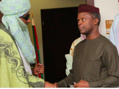 Emir of Kano, Muhammad Sanusi with VP Osinbajo