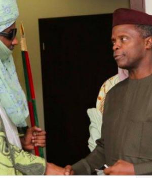 Emir of Kano, Muhammad Sanusi with VP Osinbajo