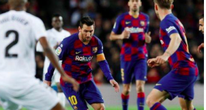 Lionel Messi was often crowded out by a disciplined Granada defence