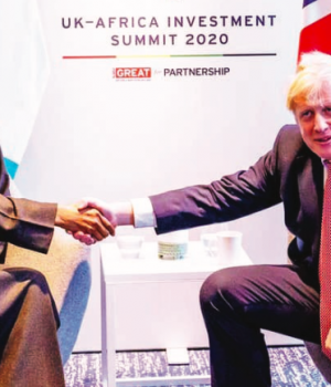 President Buhari and UK PM Borris Johnson