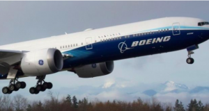 The 252-foot-long passenger jet has been delayed by some technical difficulties