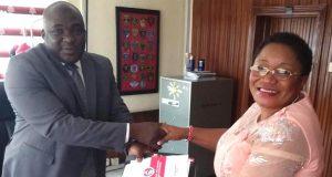 Uniben VC Prof. Lillian Salami with Benin EFCC Head, Muhtar Bello,