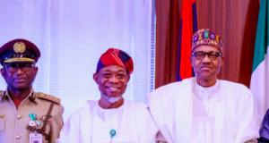 Babande, Aregbesola and President Buhari