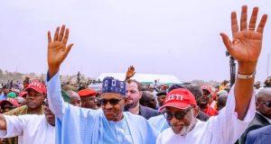 Buhari and Akeredolu in Ondo