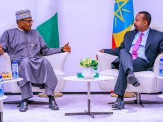 President Buhari and Prime Minister Abiy Ahmed