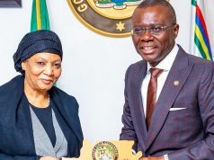 President of the Court of Appeal, Hon. Justice Zainab Adamu Bulkachuwa with Gov. Sanwo-Olu