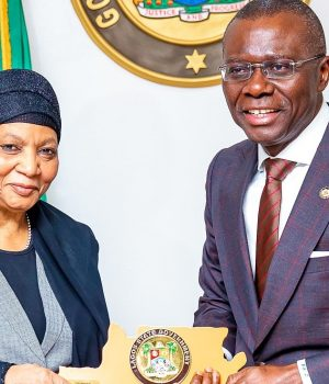 President of the Court of Appeal, Hon. Justice Zainab Adamu Bulkachuwa with Gov. Sanwo-Olu