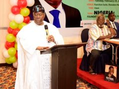 Chief Bode George speaks at Freedom Online lecture