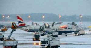 Germany stops flight over winter storm