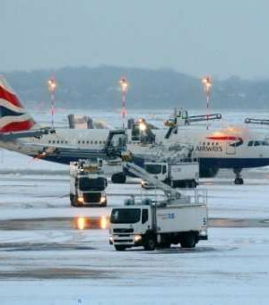 Germany stops flight over winter storm