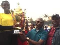 Winners in Home Science Association Secondary School, Alakuko, Lagos State inter-house sports