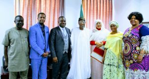 AFRIMA officials with Nigeria's Information and Culture Minister, Lai Mohammed