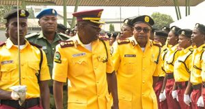 Gov. Babajide Sanwo-Olu at the LASTMA induction